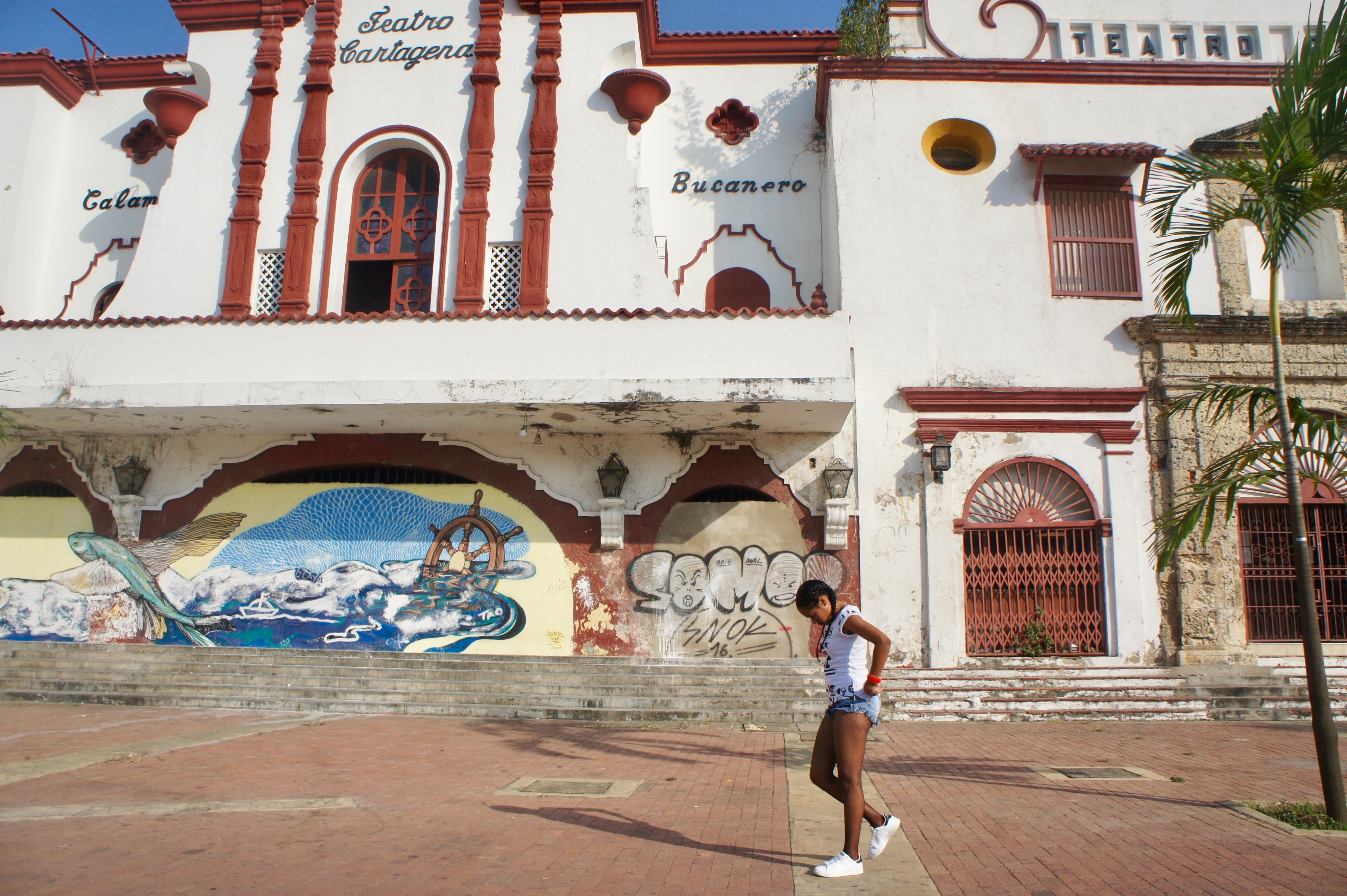 Cartagena de Indias, a Carribean town surrounded with walls